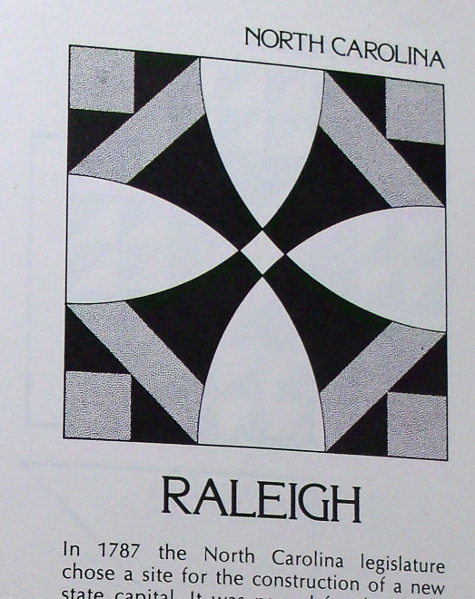 Raleigh - State Capitols Quilt Blocks