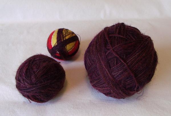 Shetland plying balls