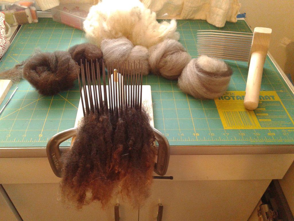 Combing Jacob wool