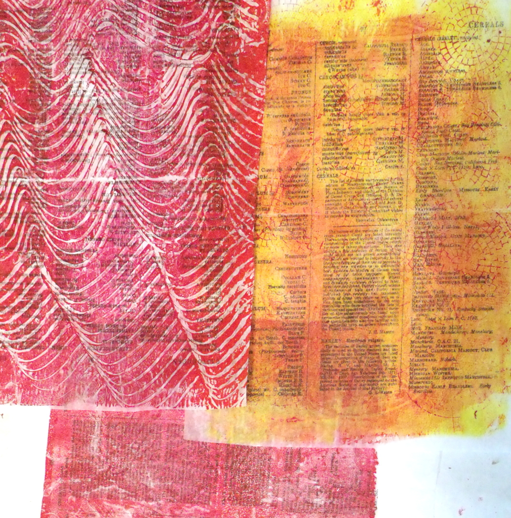 100 Day Project, days 22-27: Monoprints